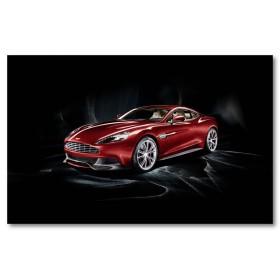 Αφίσα (κόκκινος, Aston Martin Vanquish, μαύρο, λευκό, άσπρο)